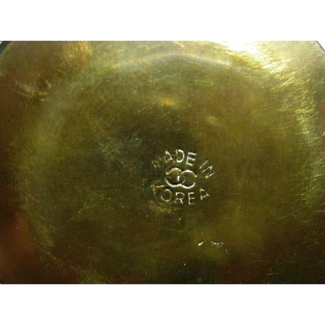 Vintage Hammered Brass Goldfish Tea Set - Image 10 of 10