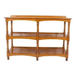19th Century Three-Tiered English Pine Server, Set of Shelves or Trolley