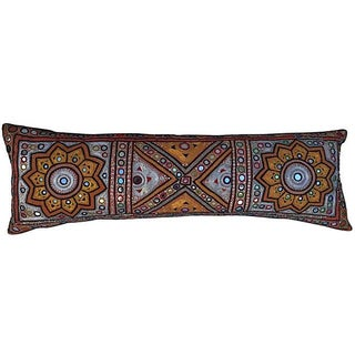 Indian Embroidered Metallic Body Pillow