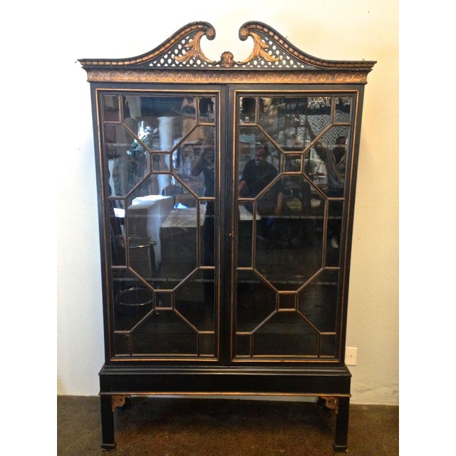 Antique Chinese Chippendale Cabinet - Image 3 of 8
