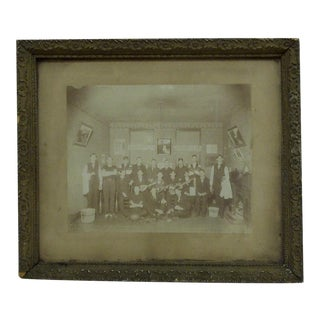 "Circa 1890 Vintage ""The Nimrod Club"" Framed Black & White Photograph"