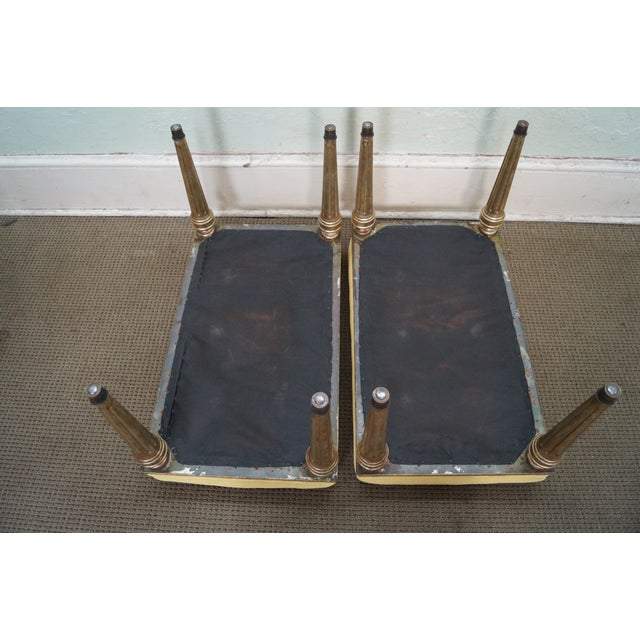Vintage Custom Silver Gilt Regency Benches - Pair - Image 6 of 9