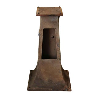 Cast Iron Industrial Pedestal Base