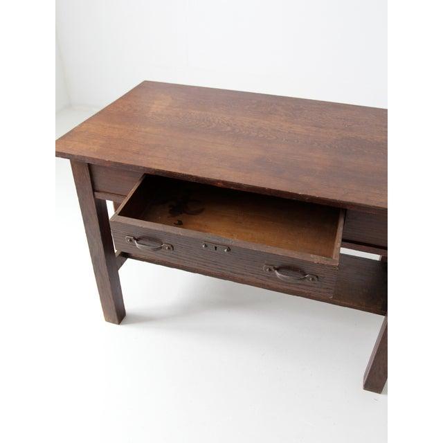 Antique Mission Style Desk - Image 5 of 8