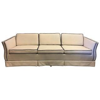 Vintage Cream & Navy Piped Sofa