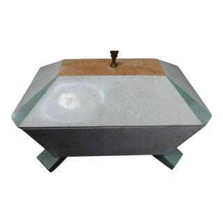 1980's Vintage Maitland Smith Tessellated Stone Jewelry Box