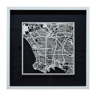 Sarreid Ltd. Los Angeles Framed Map