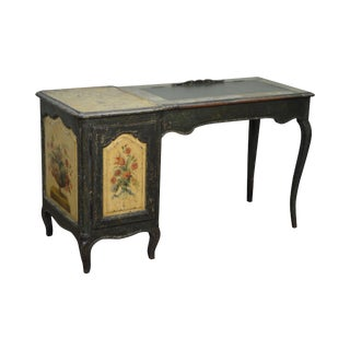 Antique Early 19th C. French Hand Painted Vanity