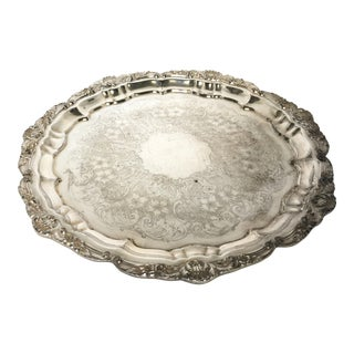 Poole Vintage Silver Plated Tray