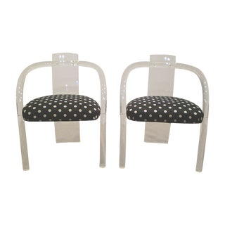 Lucite Arm Chairs - A Pair