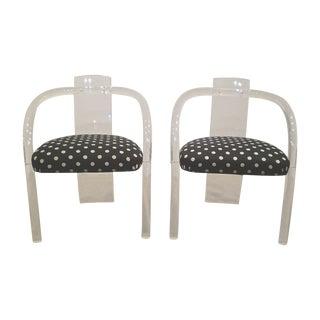 Lucite Arm Chairs - A Pair