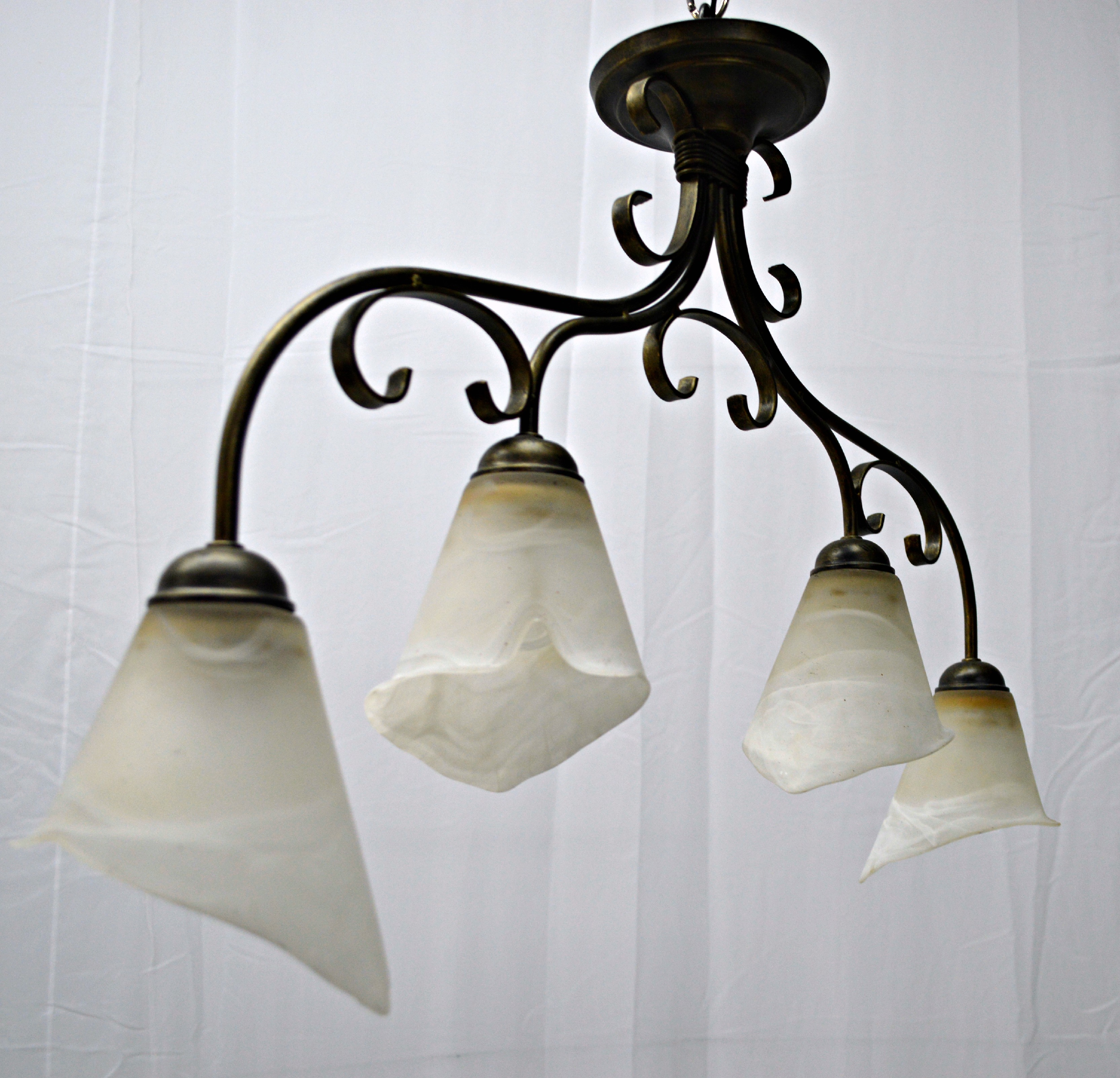 4Light Calla Lily Chandelier Chairish