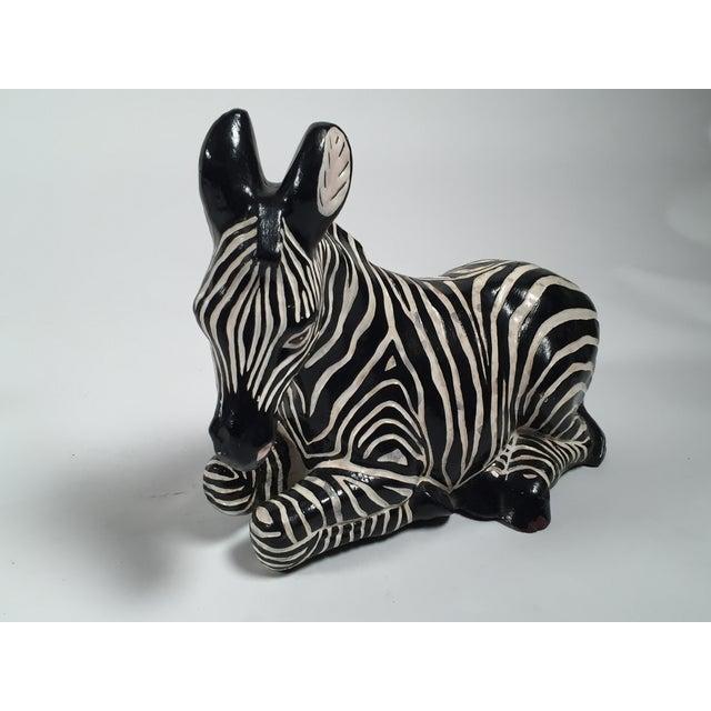 Ceramic Zebra Figure - Image 3 of 5