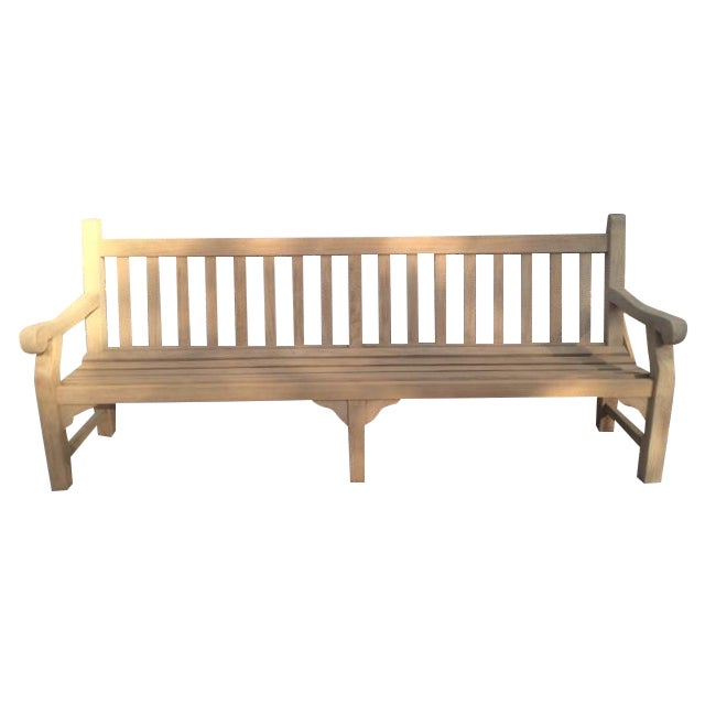8' Teak Bench - Image 1 of 4