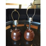 Image of Complimentary Danish Teak Table Lamps - A Pair