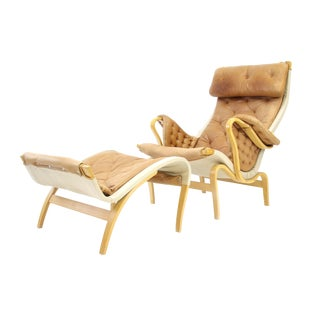 Bruno Mathsson Dux of Sweden Pernilla Chair & Ottoman f