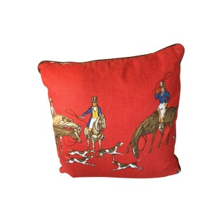 Hunt Themed Pillows With Suede Trim
