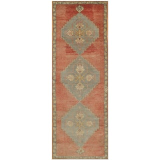 Vintage Tribal Runner Rug - 3'8'' x 10'10""