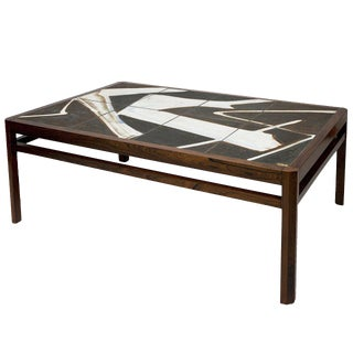 Danish Rosewood Abstract Tile Coffee Table