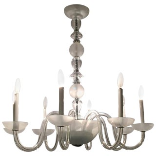 Eight-Light Transitional Crystal Chandelier