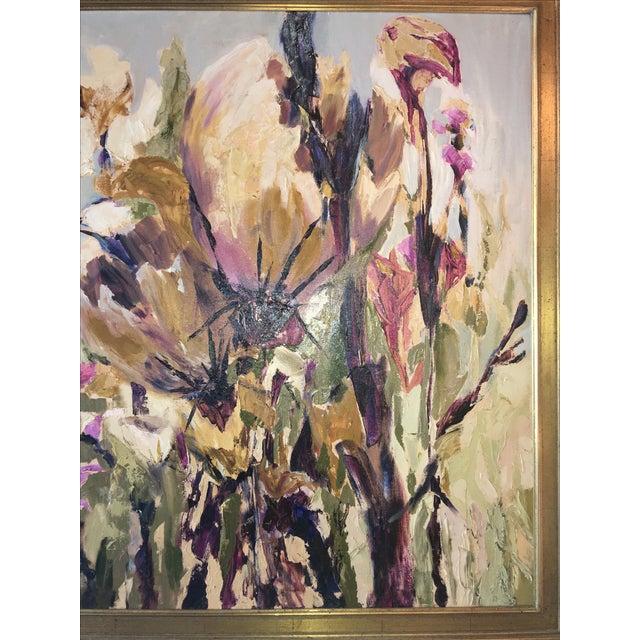 Vintage Floral Oil Painting - Image 4 of 5