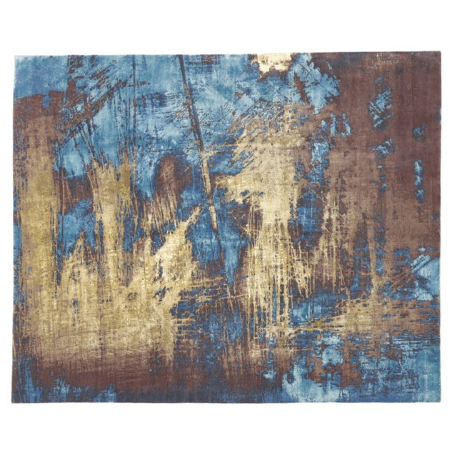"""Image of Contemporary Abstract Scratch Texture Rug - 8'7"""" x 9'11"""""""