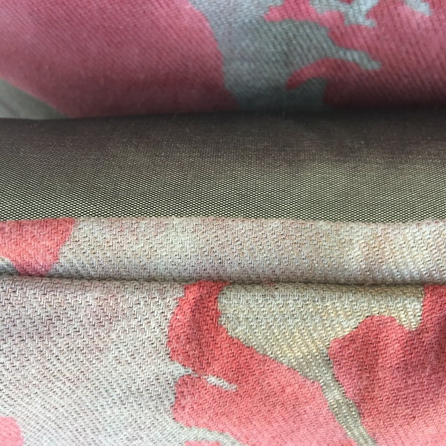 Fortuny Pink & Gold Pillows - A Pair - Image 4 of 5