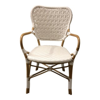 White Woven Arm Chair