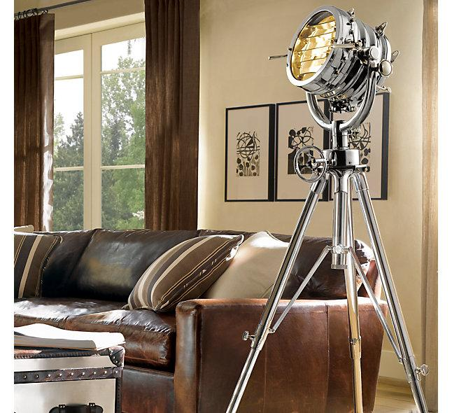 restoration hardware sealight floor lamp | chairish
