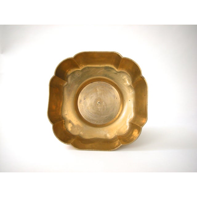 Image of Brass Scallop Pedestal Bowl