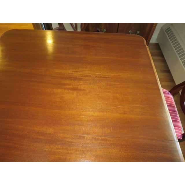Antique Mahogany Clawfoot Dining Table - Image 5 of 6