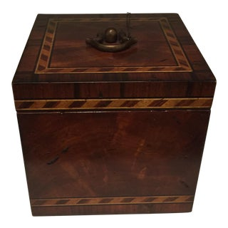 Traditional Wooden Box With Marquetry