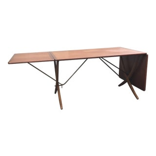 Hans Wegner At-309 Teak and Oak Drop Leaf Dining Table by Andreas Tuck