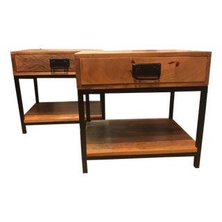 Reclaimed Wood Industrial & Rustic Nightstands - a Pair