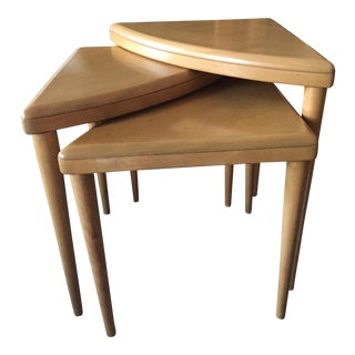 Heywood Wakefield Triangle Nesting Tables - Set of 3
