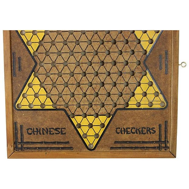 Image of Vintage 1950s Chinese Checkers Game Board