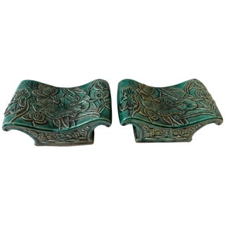 Vintage Chinese Celadon Headrests - A Pair