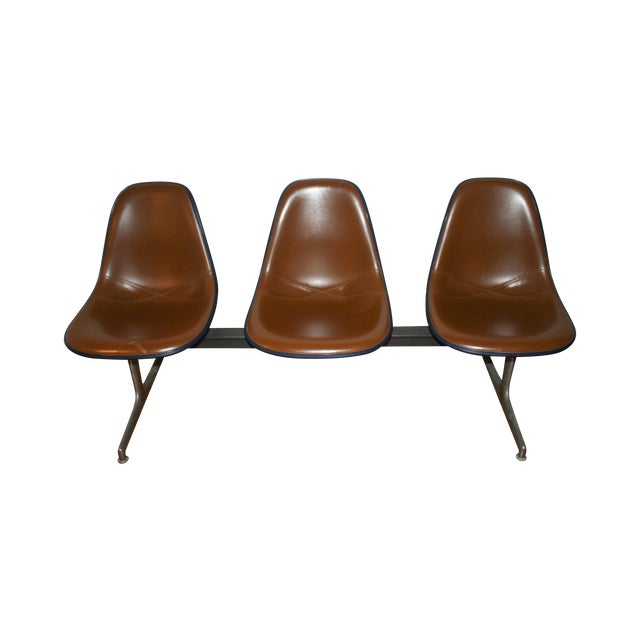 Vintage Eames Tandem Bench Chair - Image 1 of 11