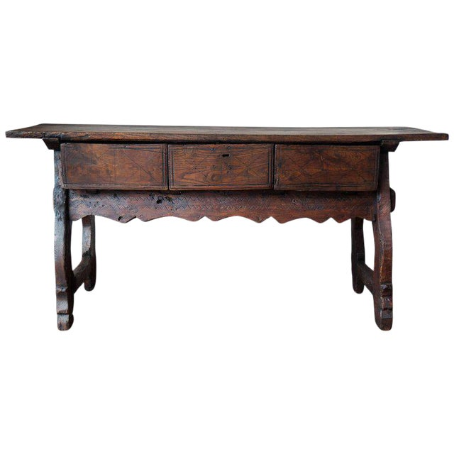 18th Spanish Refectory Table with Three Drawers - Image 1 of 8