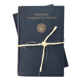 Antique French Poetic Prose Books - a Pair