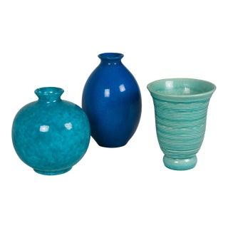 Three Continental Ceramic Vases, 1930s