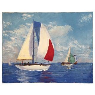 Vintage Nautical Painting Ray Burdette I