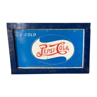 Vintage Original Pepsi-Cola Advertising Sign