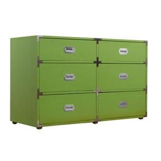 Vintage Lime Green Campaign Dresser