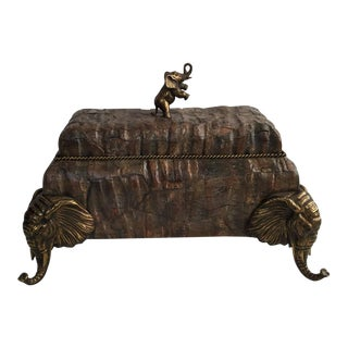 Large Maitland - Smith Elephant Coconut Box