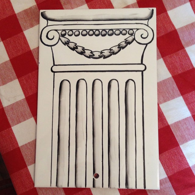 Column Painted Tile Wall Sconce - Image 4 of 8