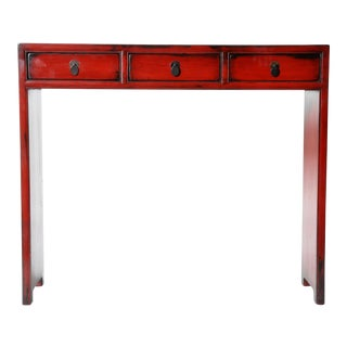 Three Drawer Chinese Table with Restoration