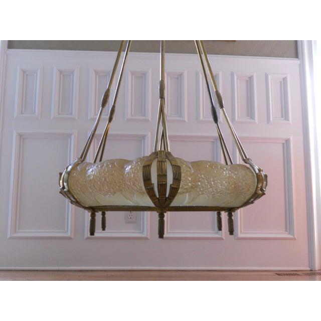 Mueller Gilded Bronze Mounted Chandelier - Image 5 of 6