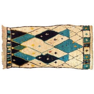 Vintage Moroccan Berber Tribal Rug - 4.5' X 10'