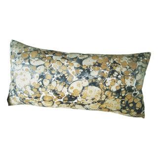 Jonathan Adler Fabric Yellow & Brown Lumbar Pillow